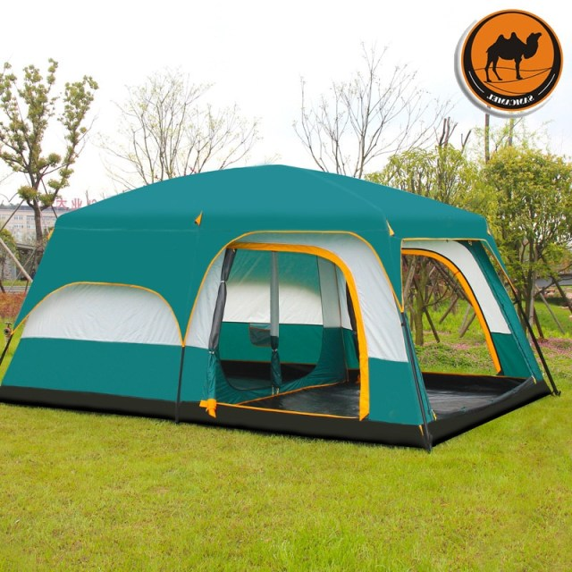 Camel Ultralarge 6 10 12 Double Layer Outdoor 2living Rooms And 1hall Family Camping Tent In Top