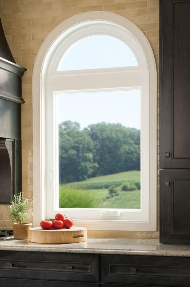 Casement Window With Radius Top Tuscany Series Vinyl