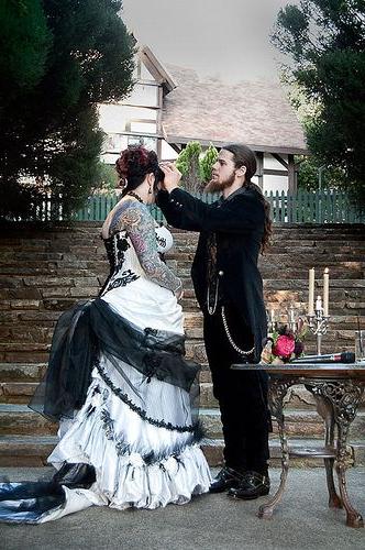 Chayla Coreys Gothic Garden Wedding Goth Wedding