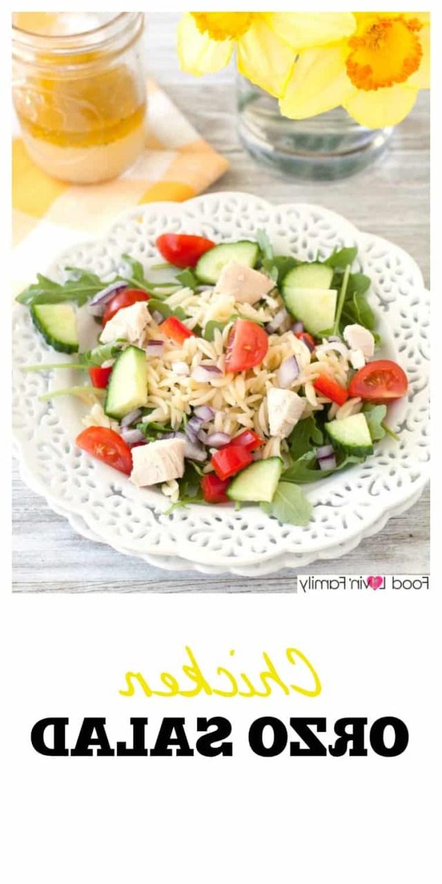Chicken Orzo Saladlight Healthy Dinner Recipe