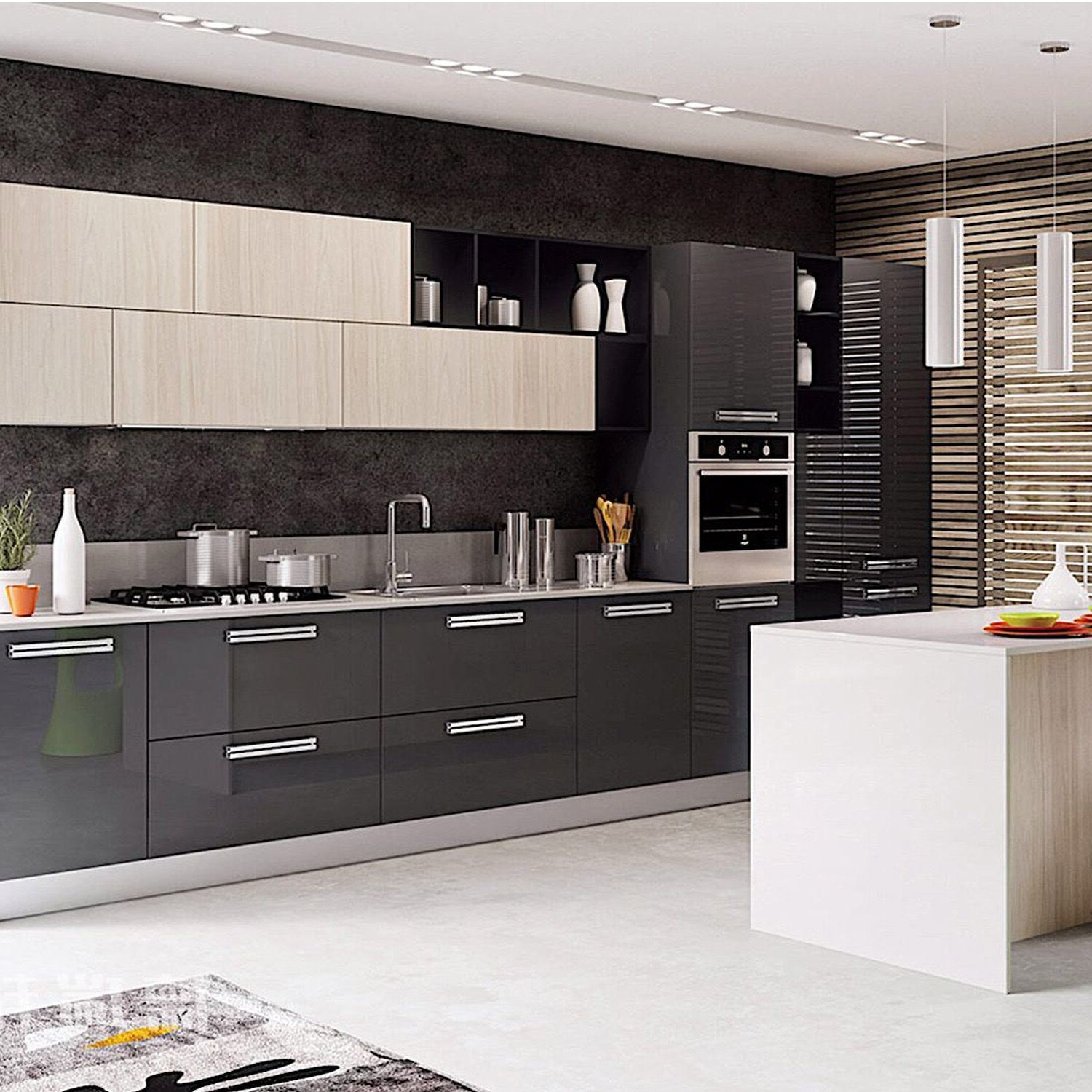 China Modern Simple Wood Modular Kitchen Cabinet Indoor