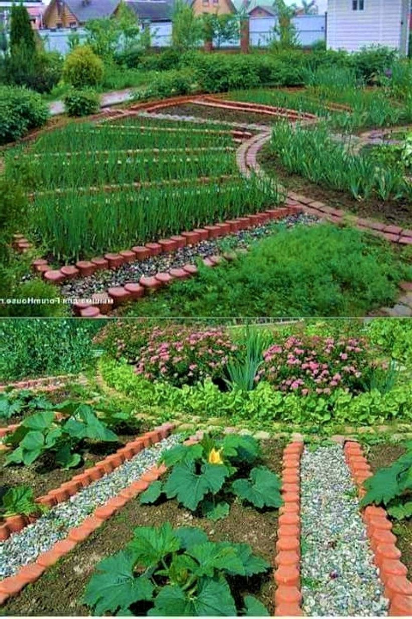 Circular Potager Garden With Gravel Paths And Wedge Shaped