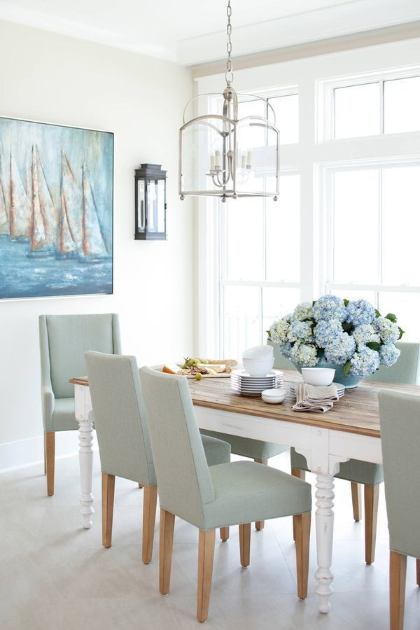Coastal Dining Room Beach House Interior Design White