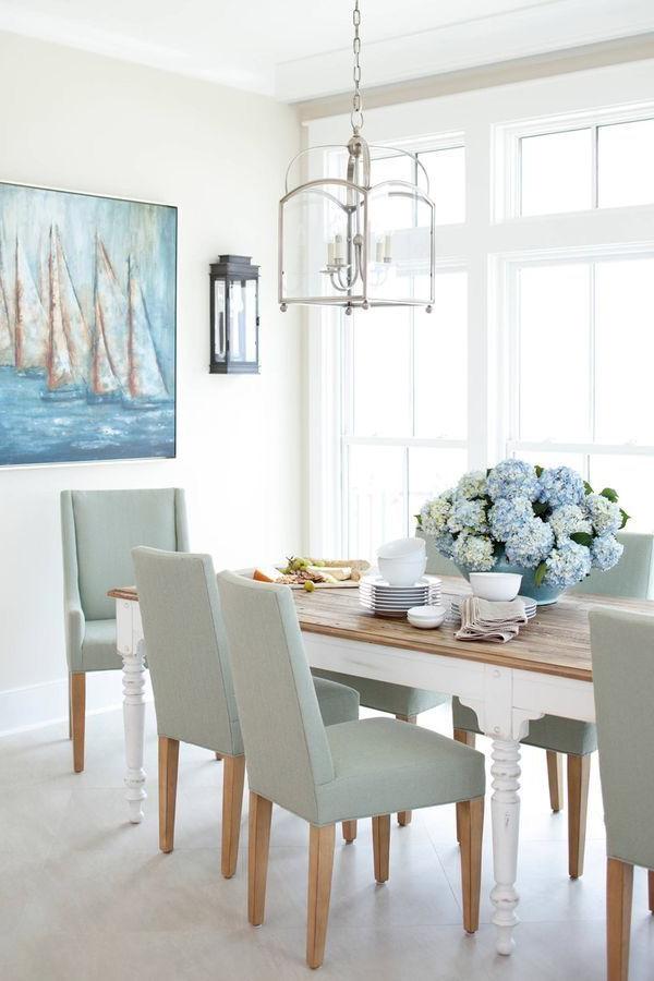 Coastal Dining Room Beach House Interior Design White