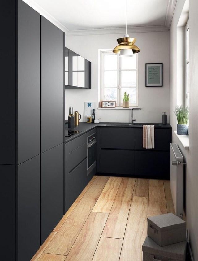 Cocina Negra Pequea Small Modern Kitchens Small