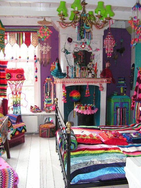 Colorful Room Ideas Bohemian Decor Boho Decor Bohemian
