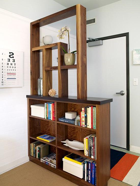 Contemporary Entry Entry Partition Bookshelf Room