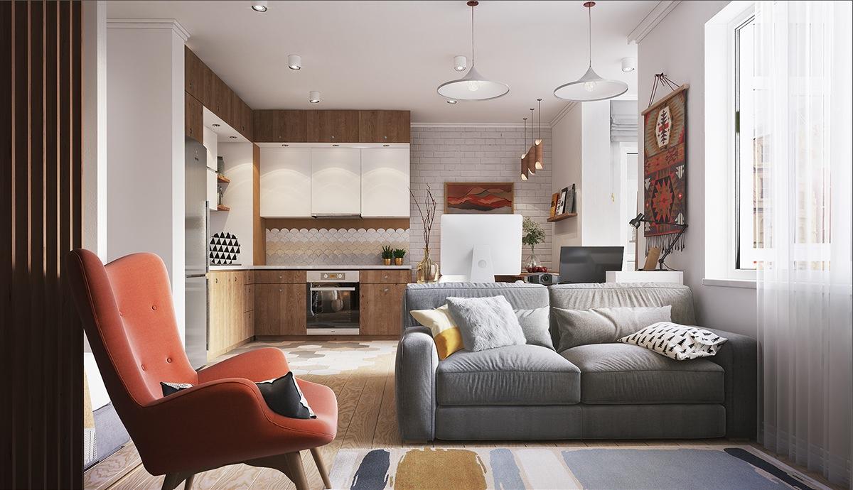 Creative Design For Minimalist Tiny Apartment Decorating