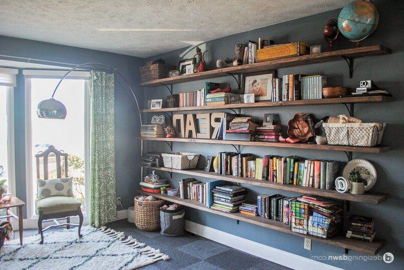 Dawns House Diy Library Shelving Wall Bookshelves Diy