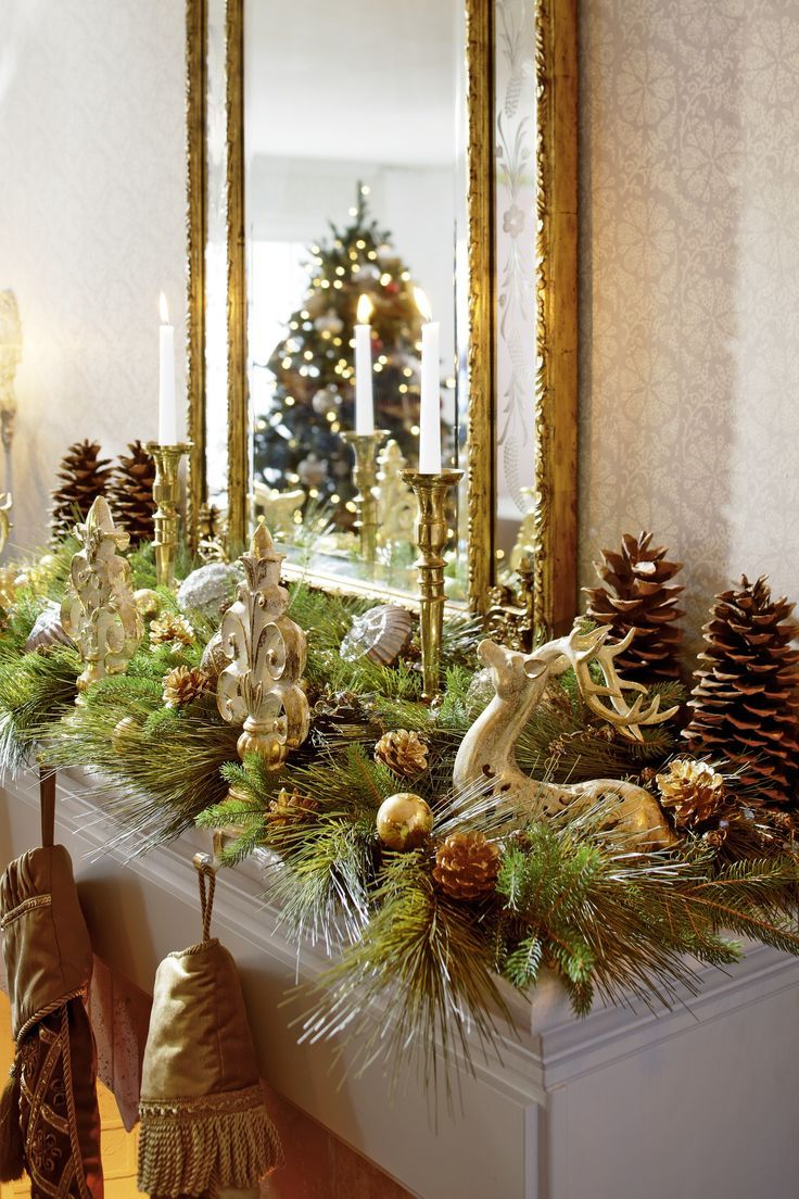 Decorating Holiday Mantels Fireplace Mantel Christmas