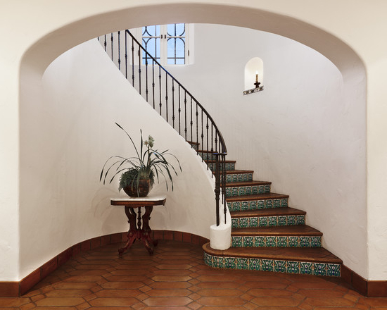 Decorating Rustic Floor Tiles Stairs Ideas Finemerch