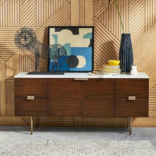 Delphine Buffet Espresso Furniture Oversized