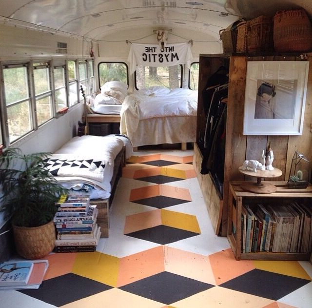 Design Dare 11 Ways To Paint Your Floors Bus Living