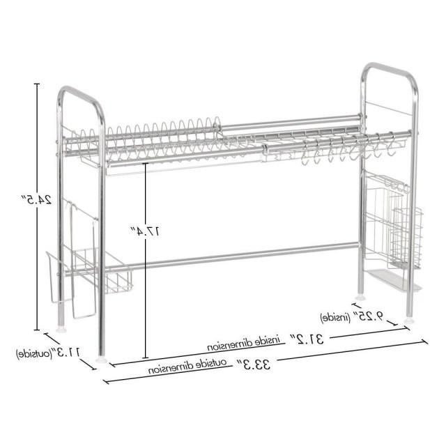 Dish Drying Rack Stainless Steel Storage Organizer Holder