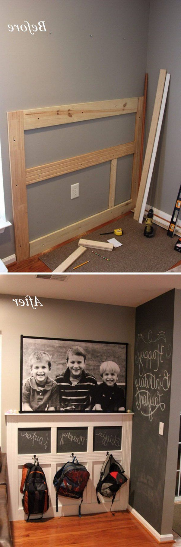 Diy Backpack Wall Backpack Wall Home Remodeling