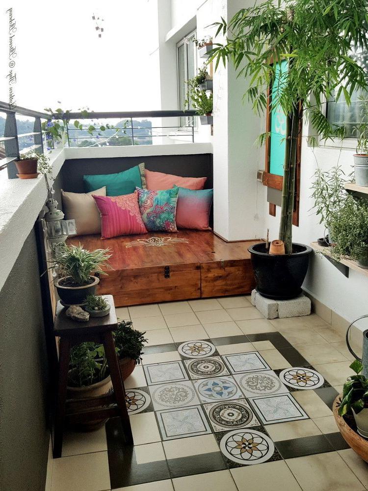 Diy Bohemian Balcony Makeover Apartment Balcony