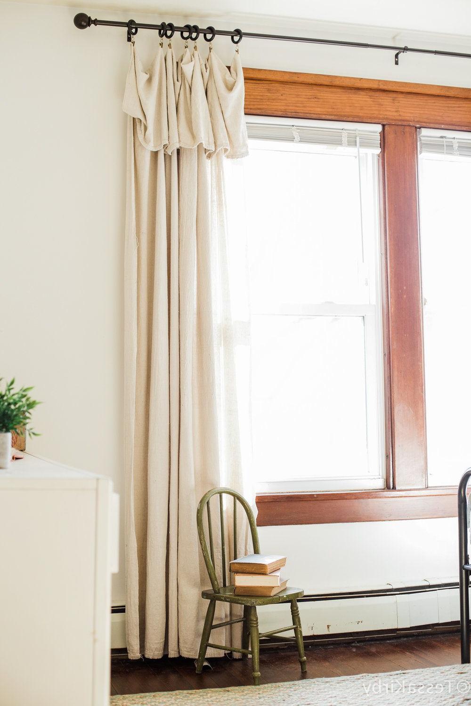 Diy Canvas Drop Cloth Curtains Living Room Decor