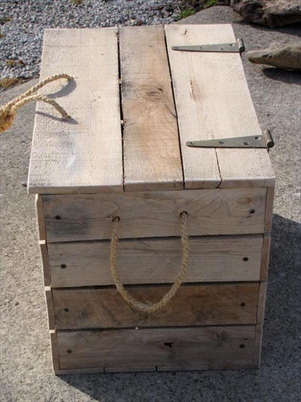 Diy Cool Pallet Box Storage Pallet Furniture Plans Idee Deco Palette Palette Bois