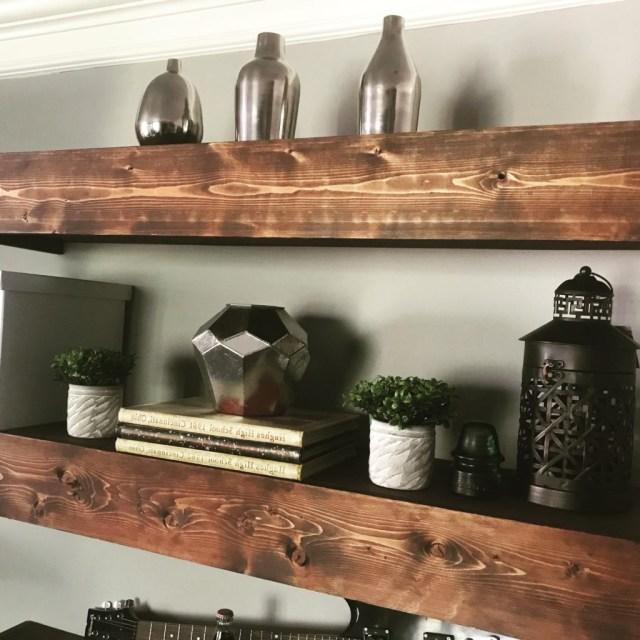 Diy Floating Shelves Bonus Room Makeover Project