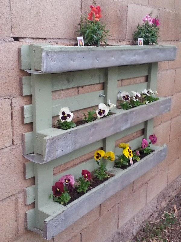 Diy Pallet Planter Home Decor Ideas Ideas With Pallets