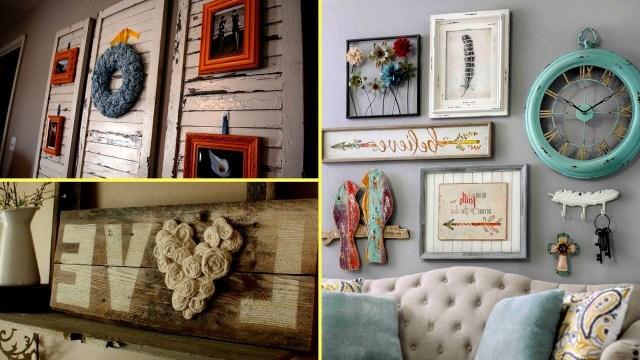Diy Shab Chic Style Wall Art And Room Decor I Home Decor