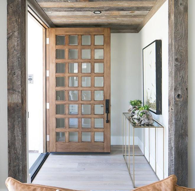 Door Is A Custom Solid Stain Grade Wood Door With A