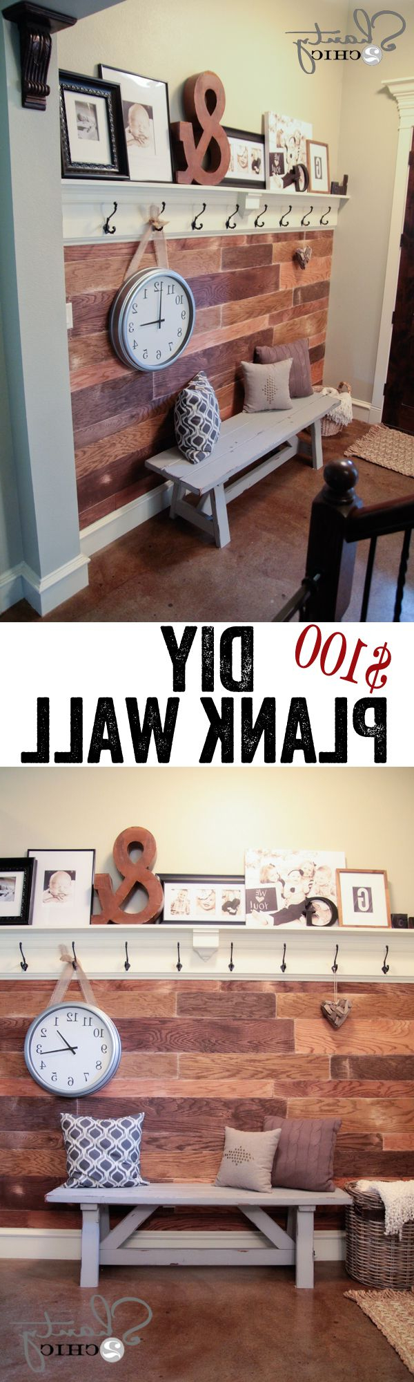 Easy And Cheap Diy Plank Wall So Pretty Love It