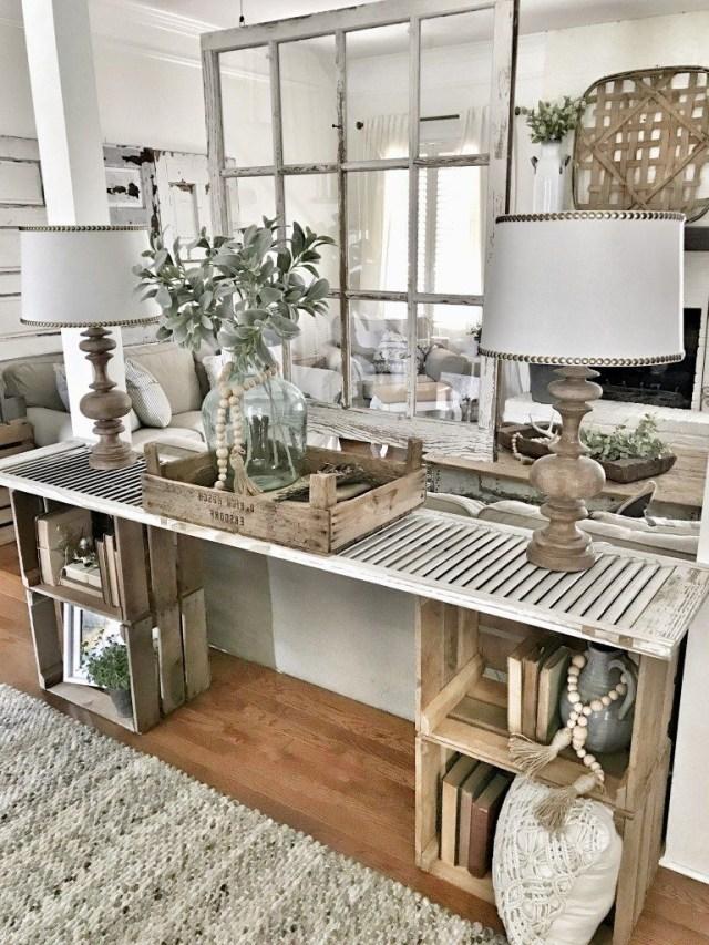 Easy Diy Console Table Home Living Room Decor Room Decor