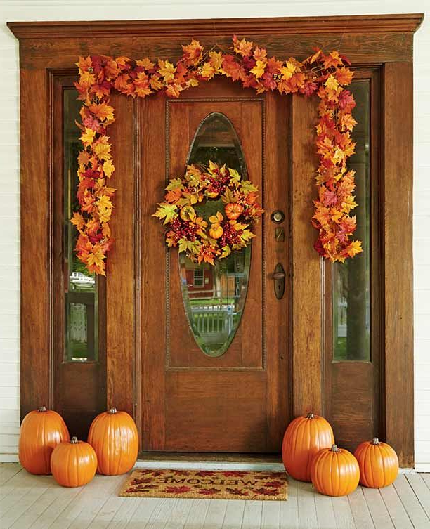Easy Fall Decor For Your Door Or Entryway With Premade