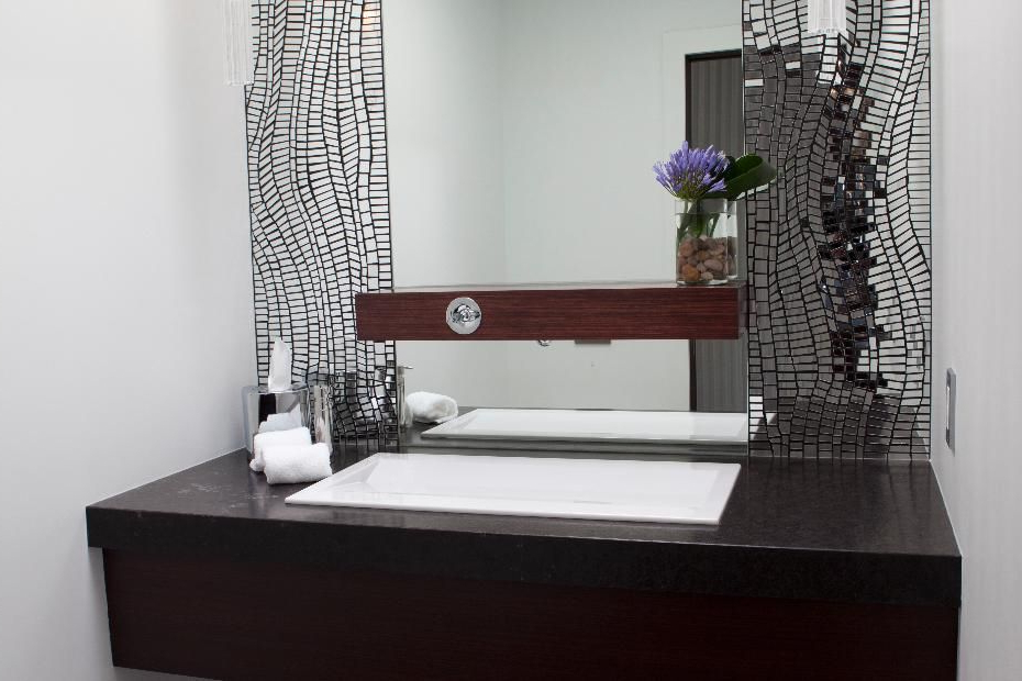 Elegant Contemporary Luxury Powder Room Contemporary