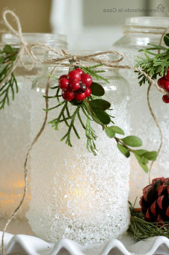 Epsom Salts Luminaries Christmas Jars Christmas Diy