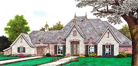 European Style House Plans 2957 Square Foot Home 1