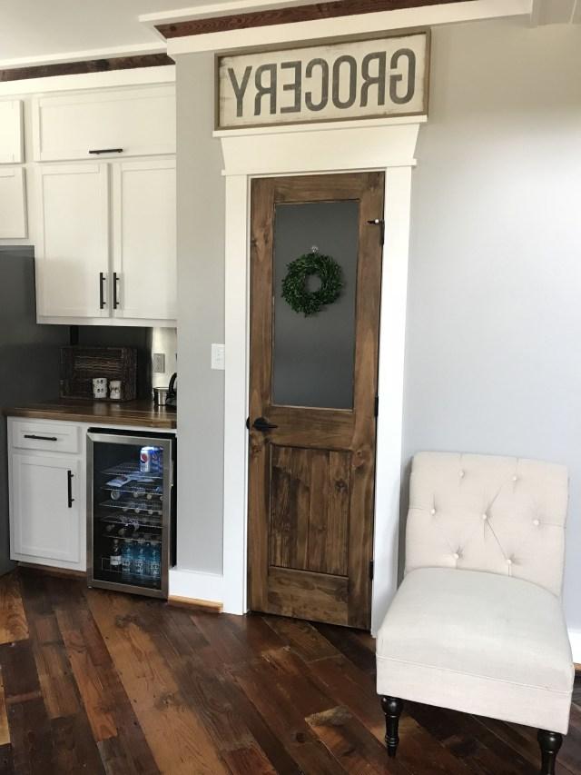 F A R M H O U S E Rustic Pantry Door With Frosted Glass