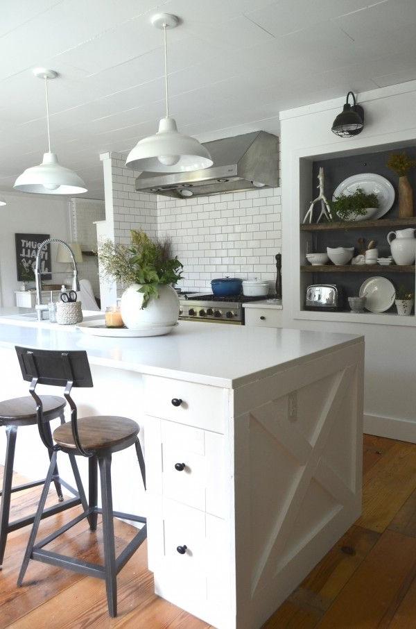 Fall Tour Cozy Minimalist Style Kitchen Island Stools