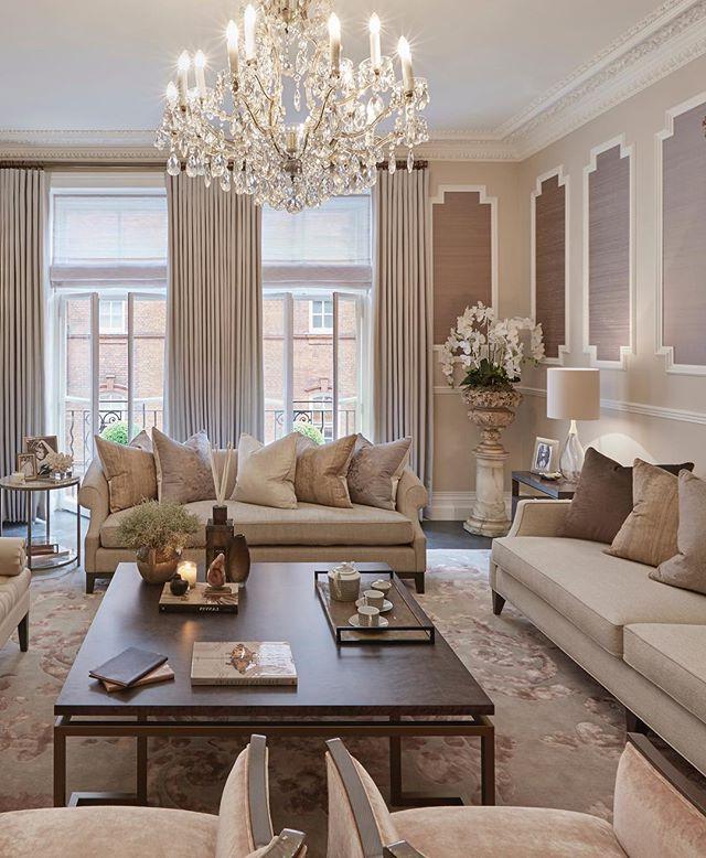 Feminine Elegant Grandeur In This Formal Sitting Room