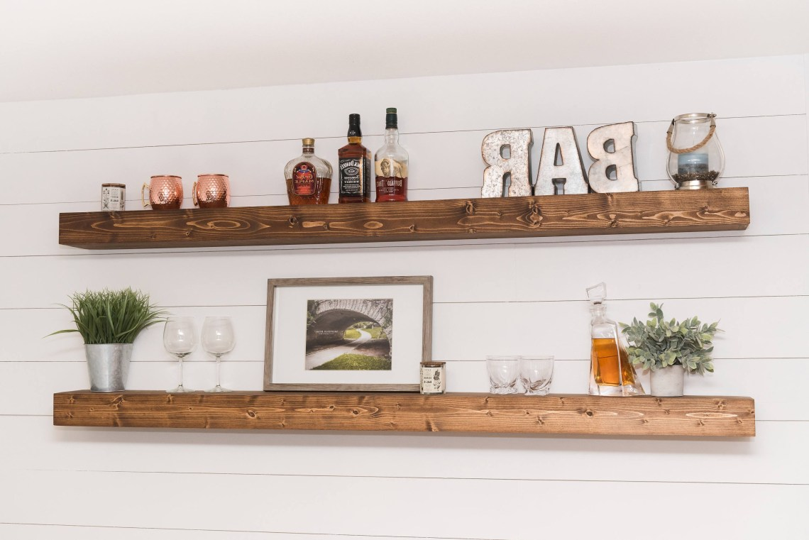 Floating Shelf Rustic Shelf Ledge Shelf Open Shelving
