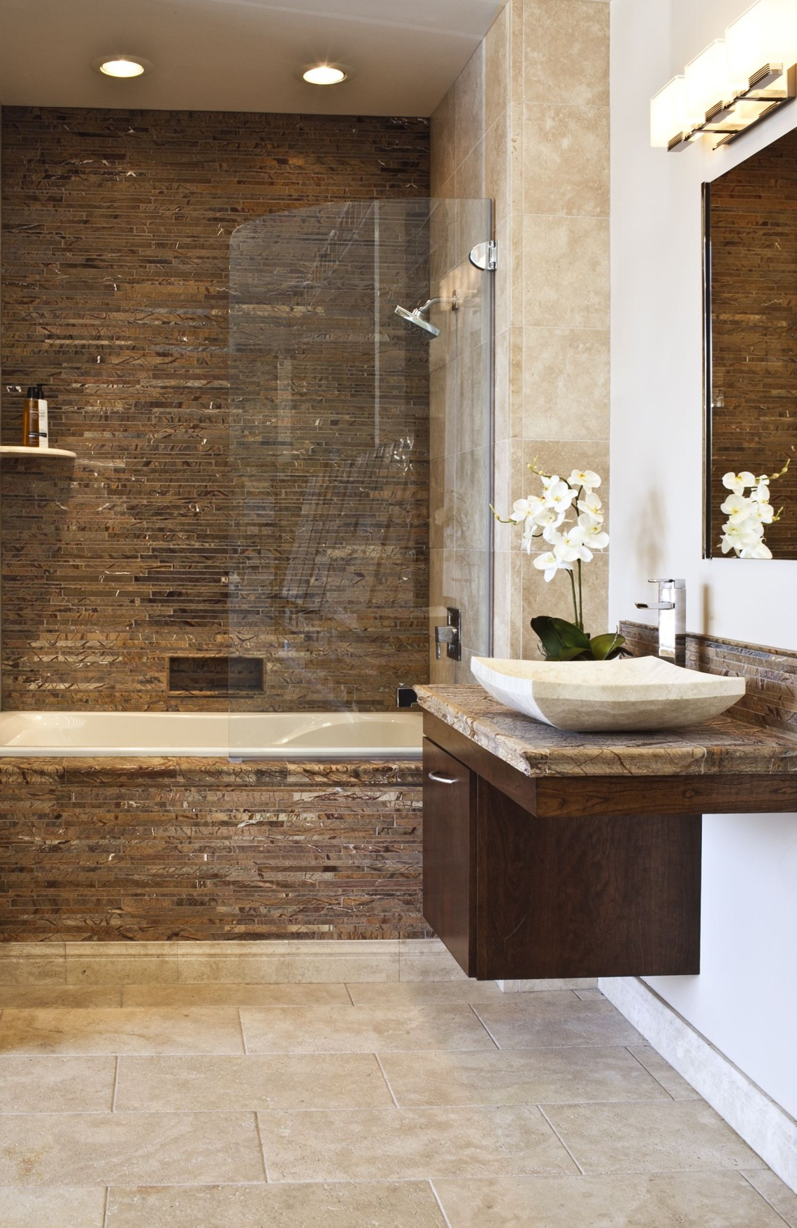 Forest Brown Marble Bathroom Brown Bathroom Basement