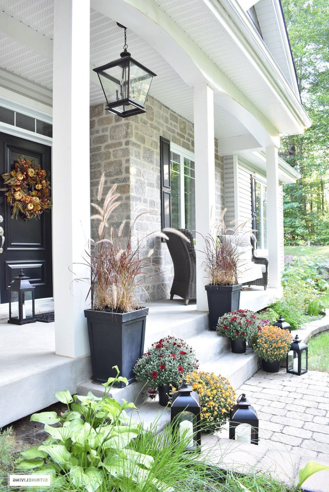 Front Porch Decorated For Fall Citrineliving