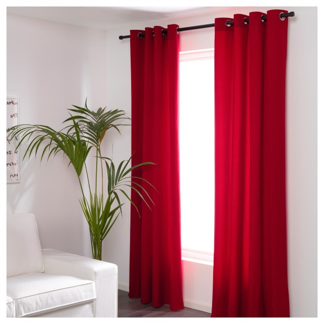 Furniture And Home Furnishings Red Curtains Ikea Red