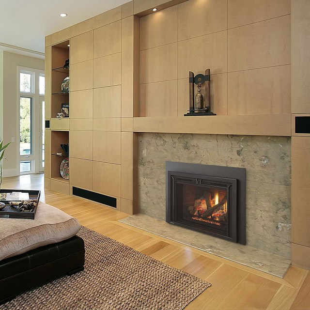 Gas Direct Vent Inserts Fireplace Stone Patio