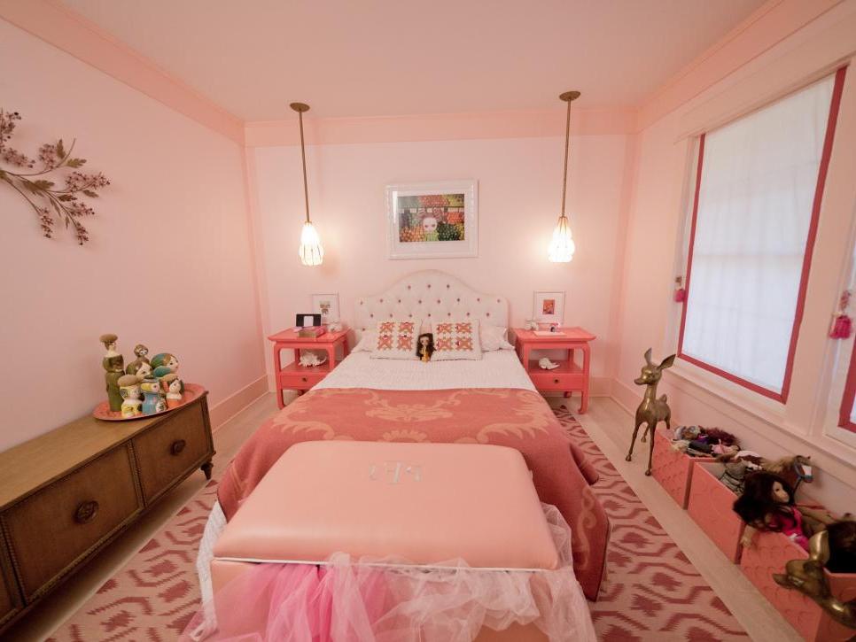 Girly Retro Inspired Pink Bedroom Hgtv