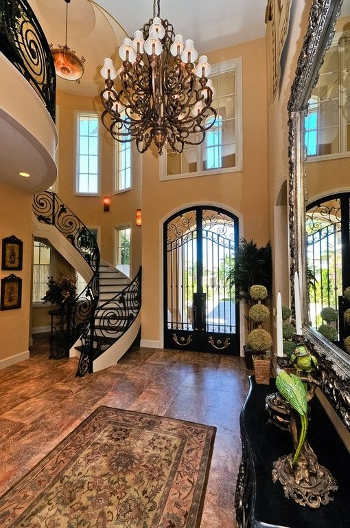 Great Mediterranean Entryway House Design Mediterranean