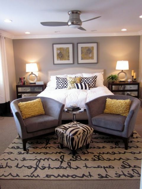 Grey And Yellow Bedroom I Would Do Grey Turquoise