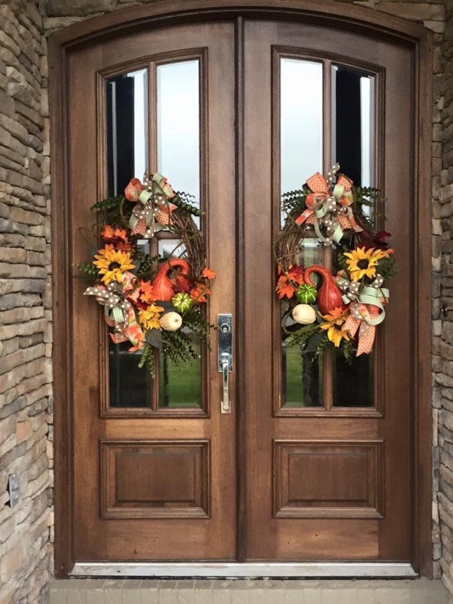 Harvest Wreaths For Double Doors From Southern And Sassy