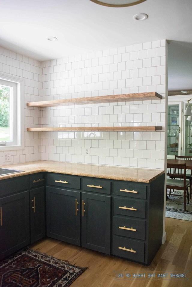 Height Of Floating Kitchen Shelves Floating Shelves