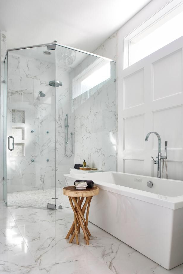 Hgtv Presents A Master Bath Renovated To Include A Large