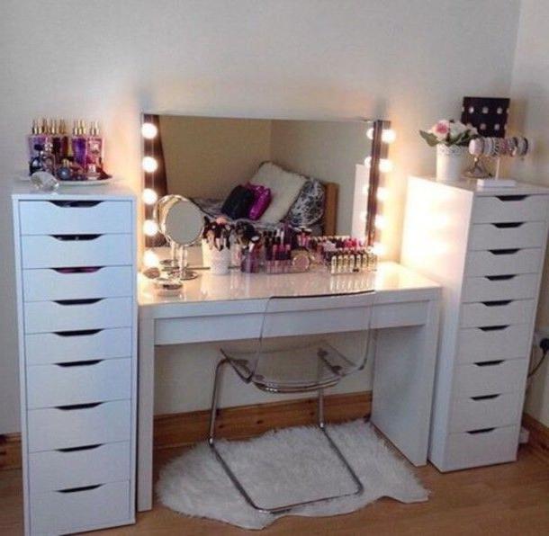 Home Accessory Floor Mirror Make Up Makeup Look Makeup