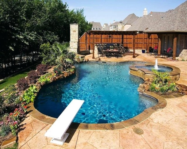 Home Elements And Style Most Popular Exemplary Outdoor Inground Pools Creativity Backyard Pool