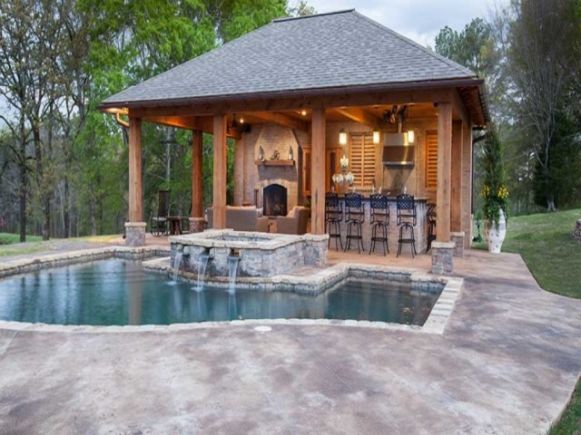 Home Elements And Style Outdoor Pool House Ideas Building