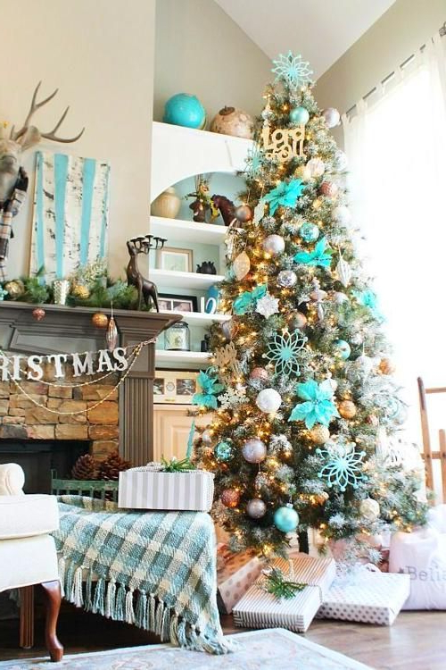 Hometalk Diy Christmas Amazing In Aqua Christmas Tree